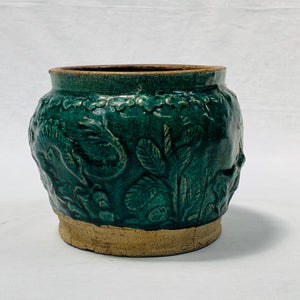 VINTAGE GREEN CERAMIC BOWL