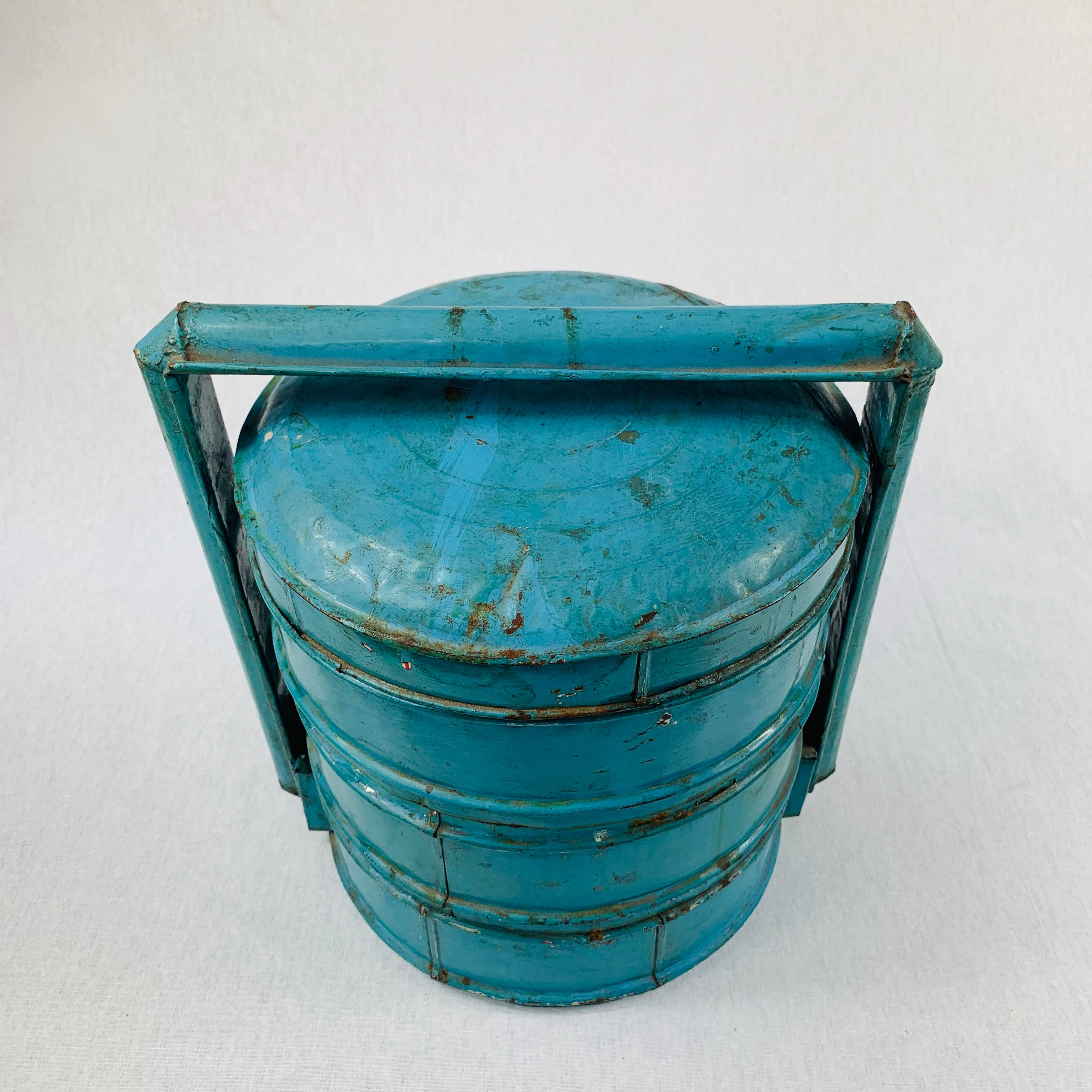 BLUE INDONESIAN VINTAGE TRADITIONAL FOOD CONTAINER