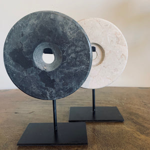 SMALL GREY MARBLE ON STAND