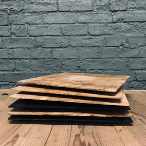 LARGE TEAK SQUARE TRAY