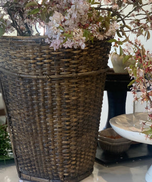 ANTIQUE RATTAN BASKET