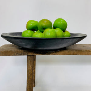 LARGE BLACK WOODEN BOWL
