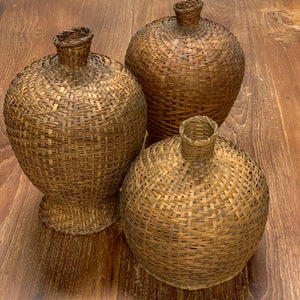 ANTIQUE BAMBOO BASKET PENDANT