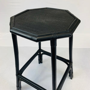 BLACK RATTAN TABLE