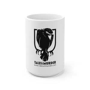Atticus, aka the murderous crow — White Ceramic Mug