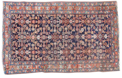 Image of Antique Persian Mir Hand-knotted 5ft x 7ft Wool W1040