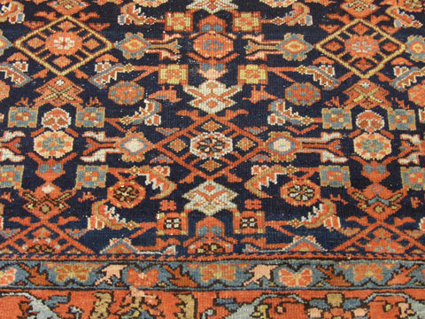 Antique Persian Mir Hand-knotted 5ft x 7ft Wool W1040