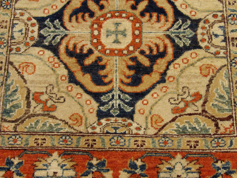 Tribal Super Kazak Natural-dye Hand-knotted 2.6x8 Wool W1113