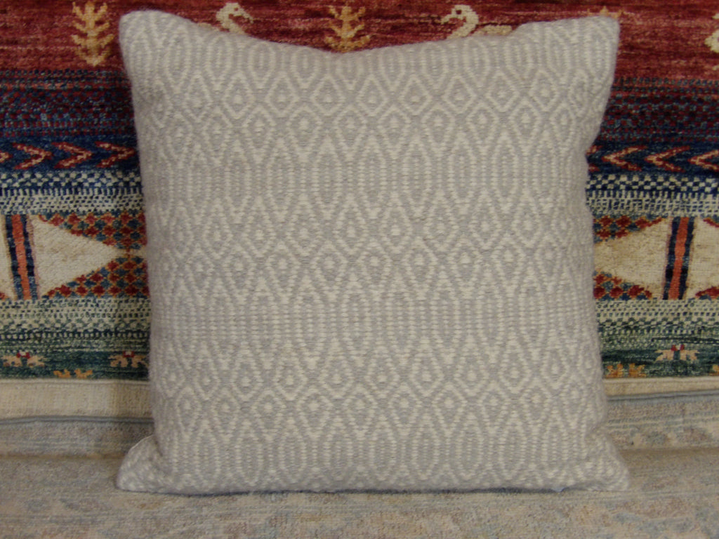 Name: Pillow Size: 1' Size: 5'' ' x 1' Size: 5'' Handwoven Color: Gray Construction: Handwoven (Pillow)