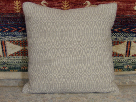 Pillow 1ft 5in x 1ft 5in Wool Pillow-20 Handwoven