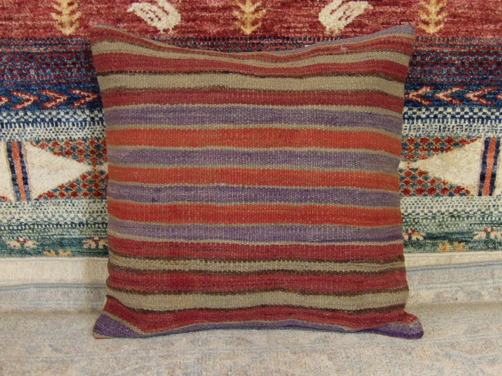 Name: Pillow Size: 1.3' x 1.3 Color: Red  Construction: Handwoven (Pillow)