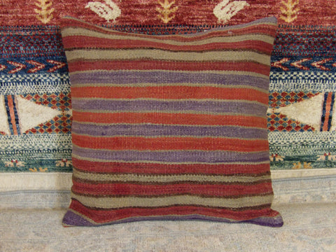 Image of Pillow Handwoven 1.3x1.3 Wool Pillow-44b
