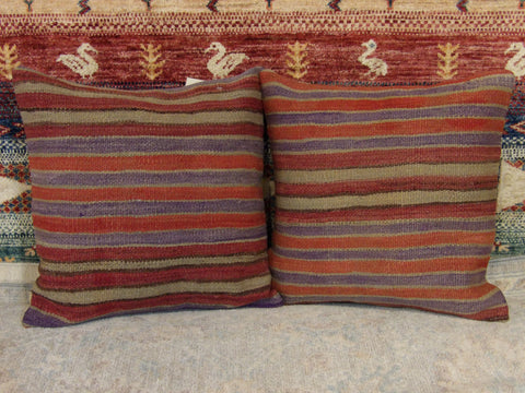 Image of Name: Pillow Size: 1.3' x 1.3 Color: Red  Construction: Handwoven (Pillow)
