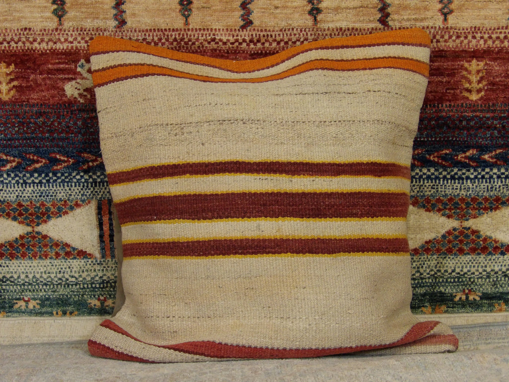 Name: Pillow Size: 1.8' x 1.8 b Handwoven Color: Beige Construction: Handwoven (Pillow)