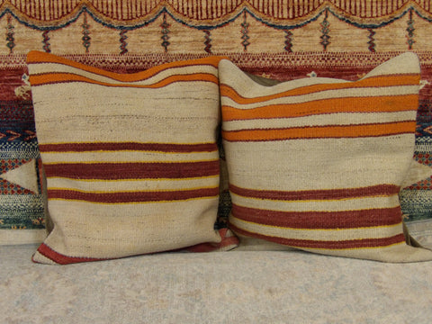 Image of Name: Pillow Size: 1.8' x 1.8 b Handwoven Color: Beige Construction: Handwoven (Pillow)