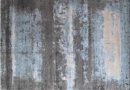 Name: Modern Tibetan Design Color: Blue Construction: Hand-knotted Rug