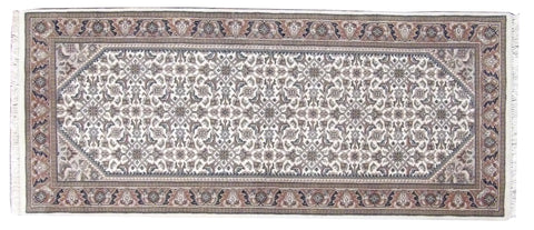 Persian Fine Herati Mir Hand-knotted 2.6 x 6 Runner Wool W11368