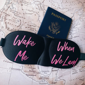 3-D Sleep Mask - Wake Me