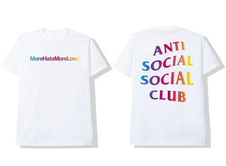 More Hate More Love White Tee