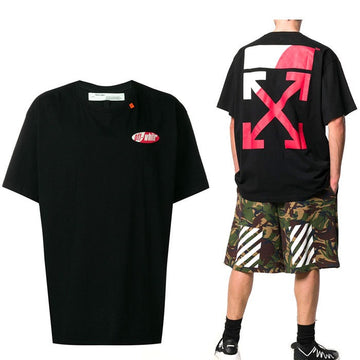 OFF-WHITE Slim Fit Split Logo Print T-Shirt Black/White/Red