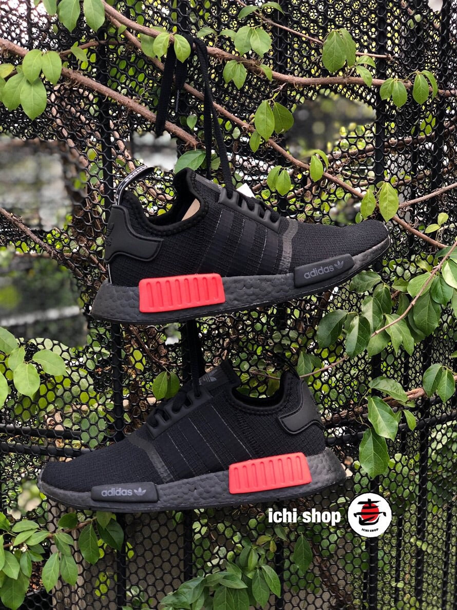 NMD R1 Core Black/ Lush Red
