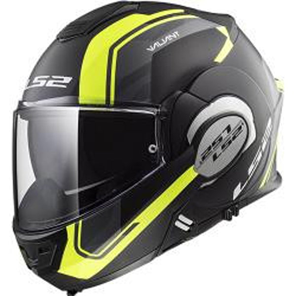 Casco abatible LS2 Valiant 180 degrees Negro/Ama