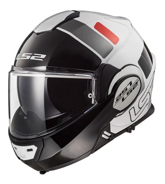 Casco abatible LS2 Valiant 180 degrees Prox bco/rojo