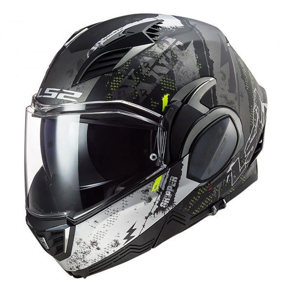 Casco abatible LS2 Valiant II Gripper Dorado Mate