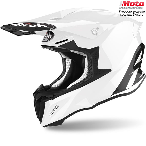 CASCO AIROH TWIST 2.0 - WHITE GLOSS COLOR