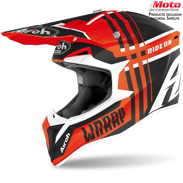 CASCO AIROH WRAPP - BROKEN ORANGE MATTM