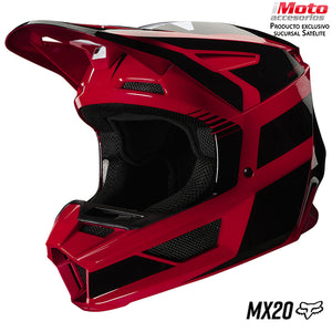 CASCO FOX V2 HAYL ROJO FLAMA
