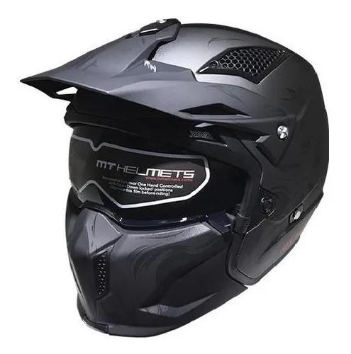 CASCO ABIERTO MT STREETFIGHTER SV DARKNESS A2 GRIS MATE