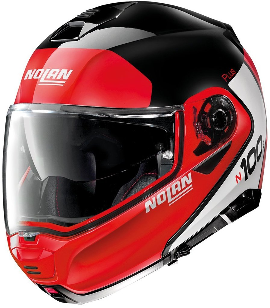 Casco N100-5 Plus Distinctive N-com 27 Ngo/Rjo/Bco Nolan