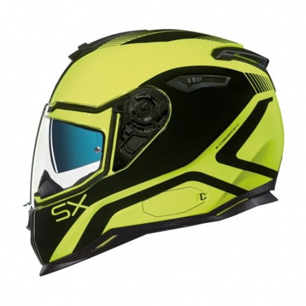 Casco integral Nexx SX.100 POP UP NEON YELLOW