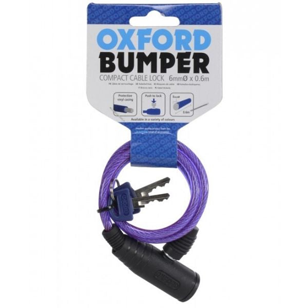 Bumper Cable Lock  600mm x 6mm - Purple