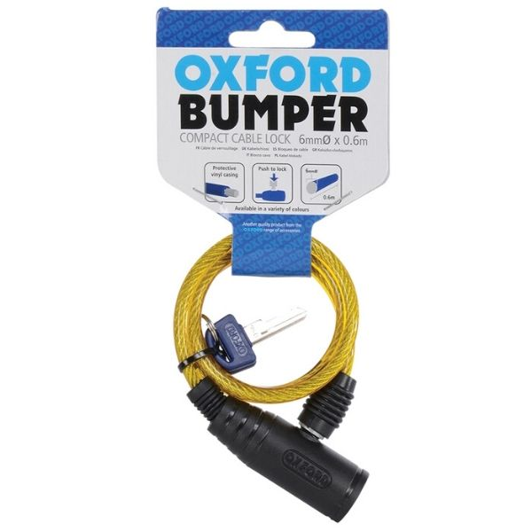 Bumper Cable Lock  600mm x 6mm - Yellow