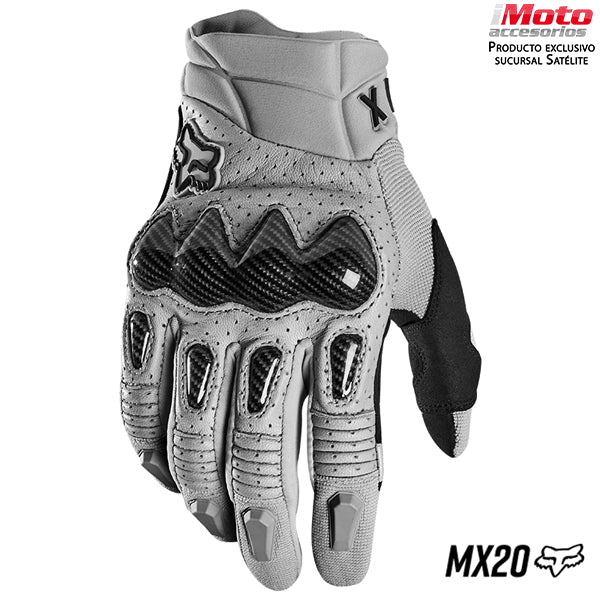 GUANTES FOX BOMBER GRIS