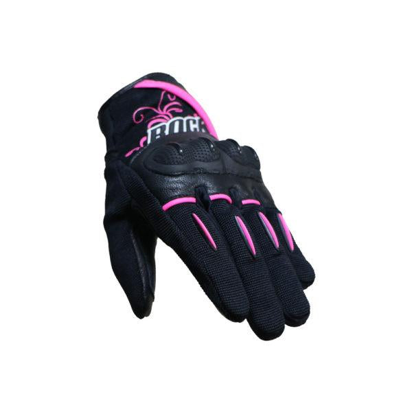 GUANTES LADIES SUPER MOTO NEG/ROS