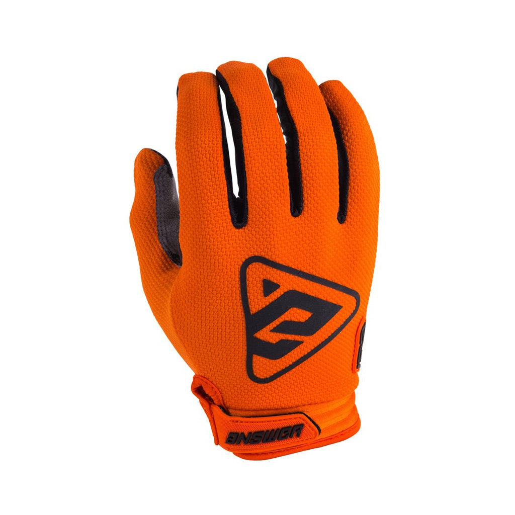 GUANTE ANSWER AR3 NARANJA/NEGRO