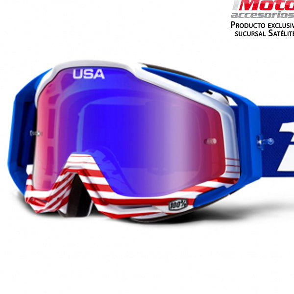 RACECRAFT ANTHEM - MIRROR RED/BLUE LENS