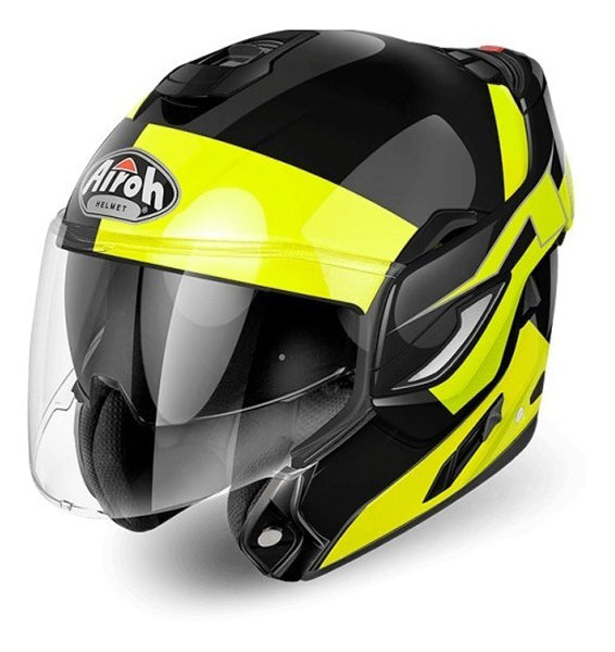 Casco abatible Airoh Rev-19 Amarillo