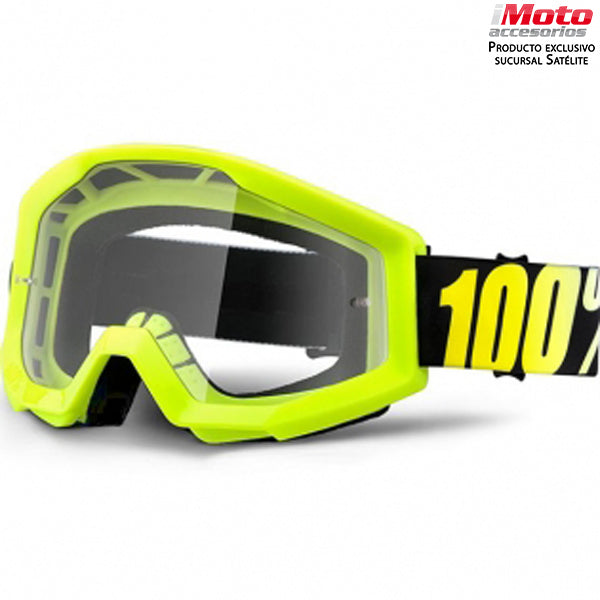 STRATA GOGGLE NEON YELLOW - CLEAR LENS