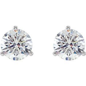 3/4 CTW Three Prong Diamond Studs