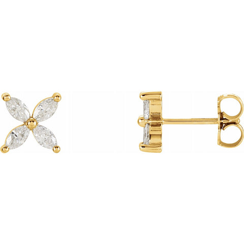 Marquise Cluster Studs
