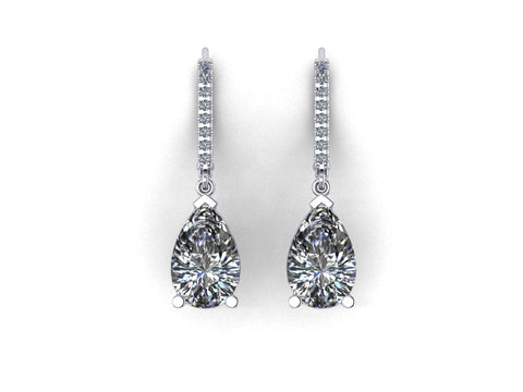 4 CTW Lab Grown Diamond Earrings