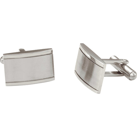 Stainless Steel Rectangular Cuff Link