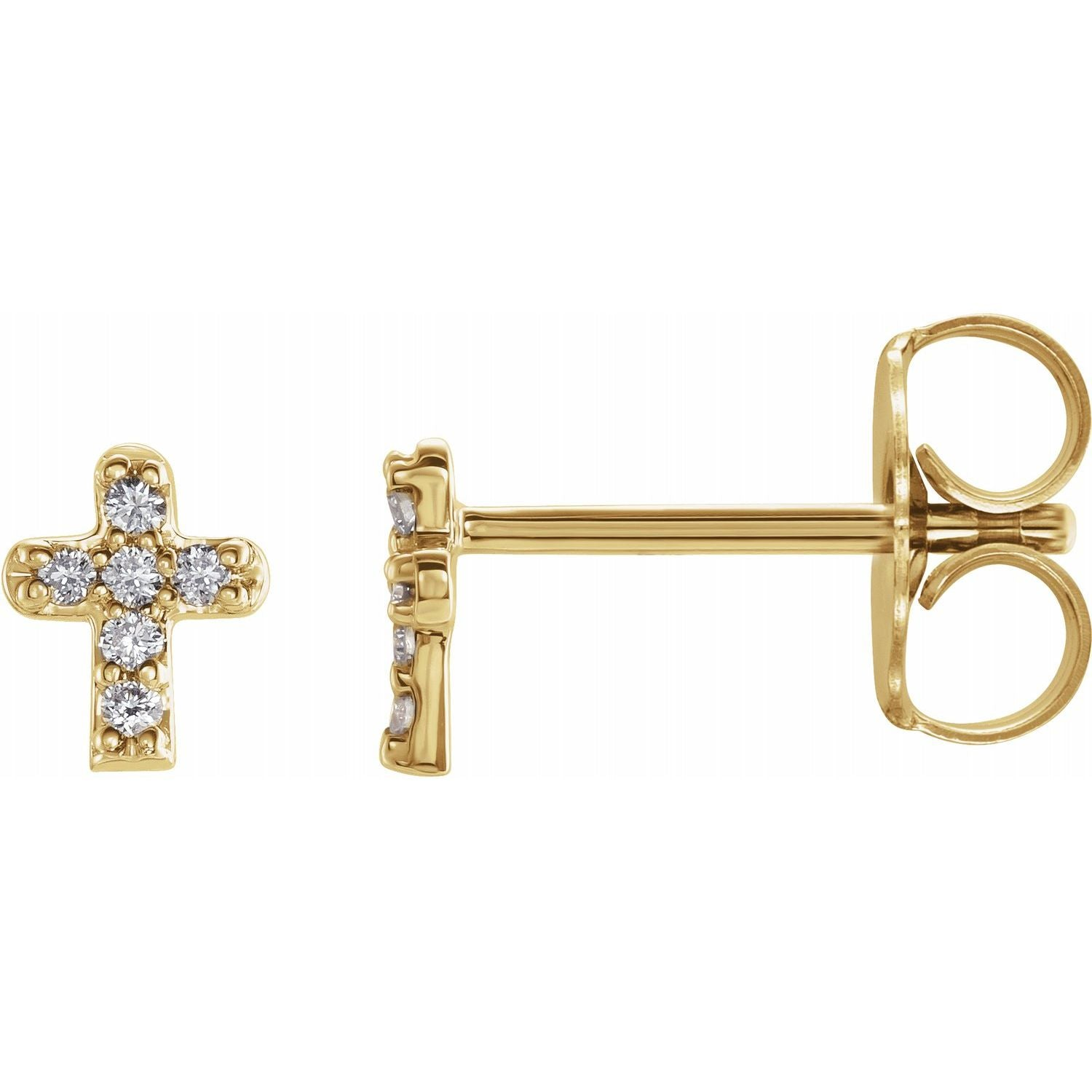Dainty Diamond Cross Studs