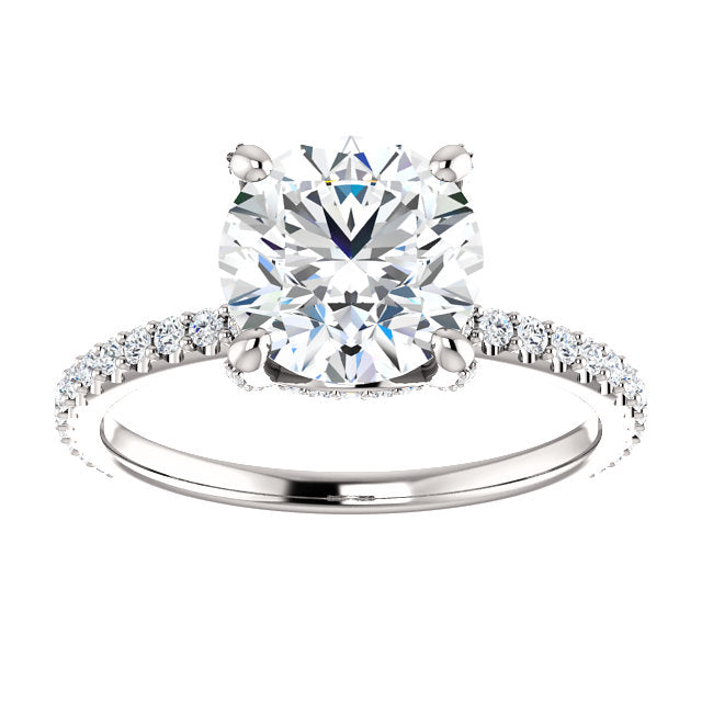 Diamond Accented 4-Prong Engagement Ring