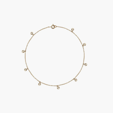 Diamond Drop Anklet