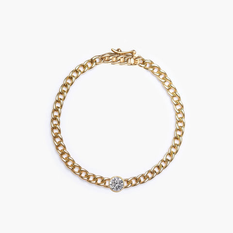 Diamond + Cuban Link Bracelet